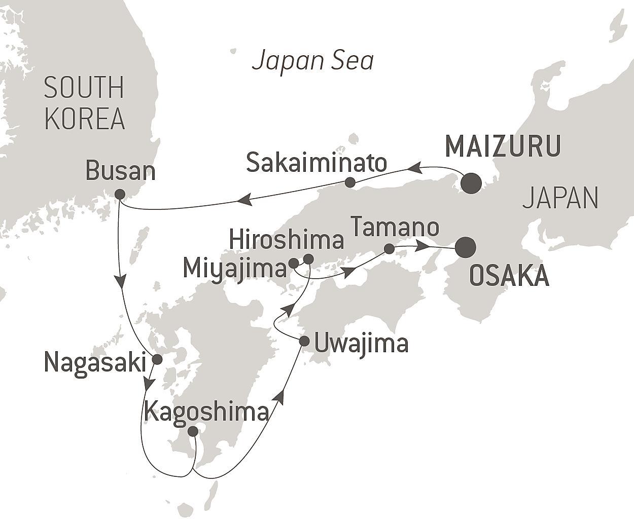Cruise The Best Of Japan From Maizuru To Osaka June 2021 Ponant
